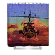 Air Cavalry Bell Uh-1 Huey  Shower Curtain