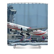 Air China Boeing 777-39ler B-2035 Smiling China Los Angeles International Airport May 3 2016 Shower Curtain