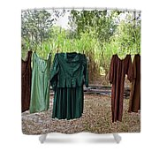 Air Dried Laundry Shower Curtain