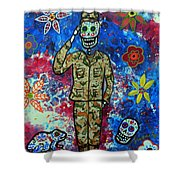 Air Force Day Of The Dead Shower Curtain