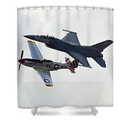 Air Force Heritage Flight Shower Curtain