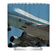 Air Force One Final Approach Into Charleston Sc Shower Curtain