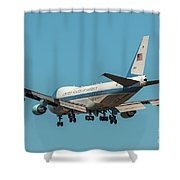 Air Force One On Final Approach Into Charleston South Carolina Shower Curtain