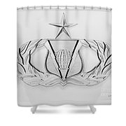 Air Force Specialty Badge Shower Curtain