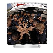 Air Force Thunderbird Maintainers Bring Shower Curtain by Stocktrek Images