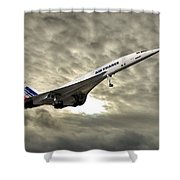 Air France Concorde 115 Shower Curtain