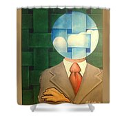 Air Head Shower Curtain