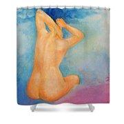 Air Head Shower Curtain
