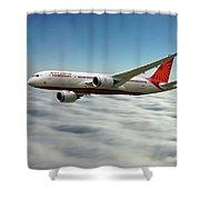 Air India Boeing 787 Dreamliner N1008s  Shower Curtain