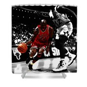 Air Jordan On Shaq Shower Curtain