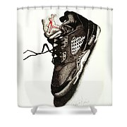 Air Jordan Shower Curtain by Robert Morin