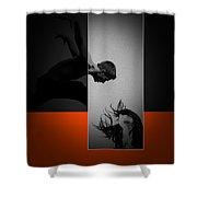 Air Kiss Shower Curtain
