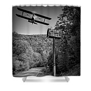 Air Mail Delivery Maine Style Shower Curtain