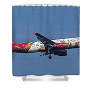 Air Malta Airbus A320-214 Shower Curtain