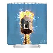 Air Raid Siren Shower Curtain