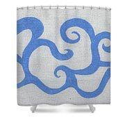 Air Speaks Shower Curtain