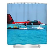 Hydroplane Shower Curtain
