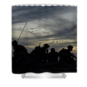 Air Traffic Controllers Set Shower Curtain