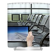 Air Travel Concept Shower Curtain
