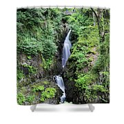Aira Force Waterfall, Aira Beck, Ullswater, Lake District Shower Curtain