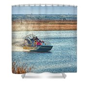 Airboat Rides Shower Curtain