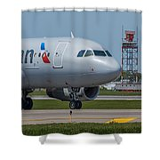 Airbus A319  On Taxi Shower Curtain