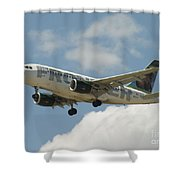 Airbus A320 Denver International Airport Shower Curtain