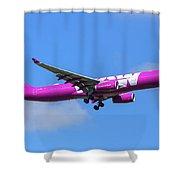 Airbus A330-343e Wow Air Shower Curtain