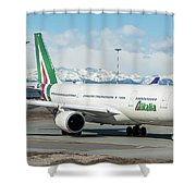 Airbus A330 Alitalia With New Livery  Shower Curtain