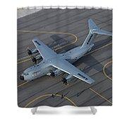 Airbus A400m Shower Curtain