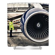 Airbus Engine Shower Curtain