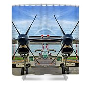 Aircraft Abstract Shower Curtain