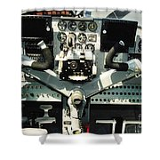 Aircraft Airplane Control Panel Shower Curtain