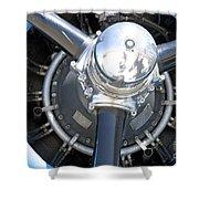 Aircraft Engine Shower Curtain
