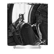 Aircraft Machine Gun Wwii Shower Curtain