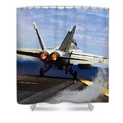 aircraft military F 18 Hornet Shower Curtain