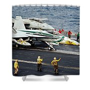 Aircraft Planes F18 Cat Shower Curtain