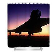 Aircraft Silhouette Shower Curtain