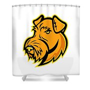 Airedale Terrier Dog Mascot Shower Curtain