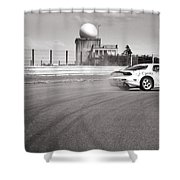 Airfield Drifting Shower Curtain