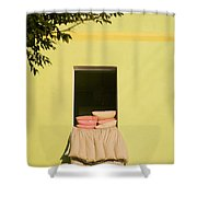 Airing Out Shower Curtain