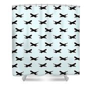 Airliner Wallpaper  Shower Curtain