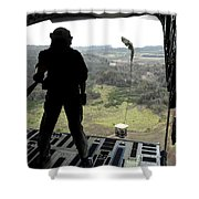 Airman Watches A Practice Bundle Fall Shower Curtain by Stocktrek Images