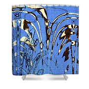 Airplane And Crane Abstract Shower Curtain