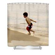 Airplane Boy Shower Curtain