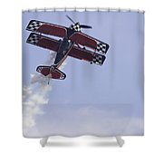 Airplane Performing Stunts At Airshow Photo Poster Print Shower Curtain