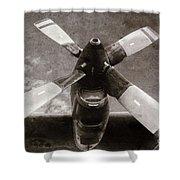Dakota Airplane Propeller  Shower Curtain