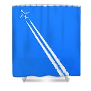 Airplane Thousands Of Feet In The Air Shower Curtain
