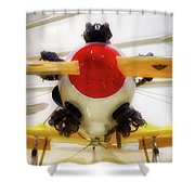 Airplane Wooden Propeller And Engine Pt 22 Recruit 02 Shower Curtain