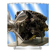 Airplanes Prop And Engine Shower Curtain